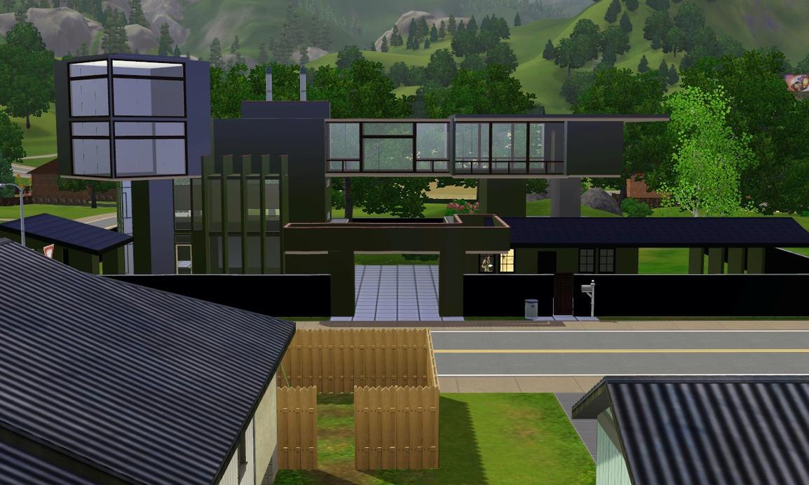 sims 3 modern black house by ramborocky on deviantart