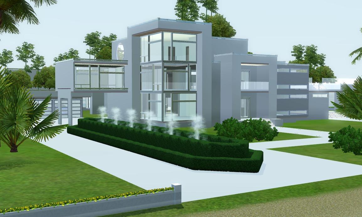 Sims 3 futuristic villa by ramborocky
