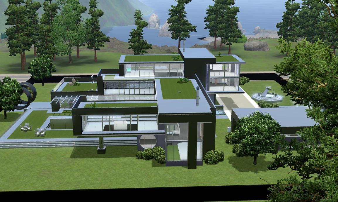 Idee sims 3 küche modern sims 3 modern villa