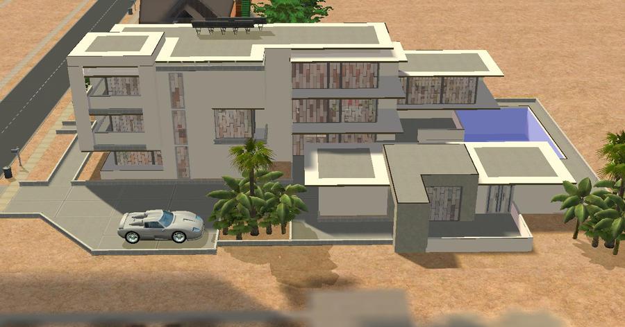 Sims 2 Simple Futuristic Home By RamboRocky