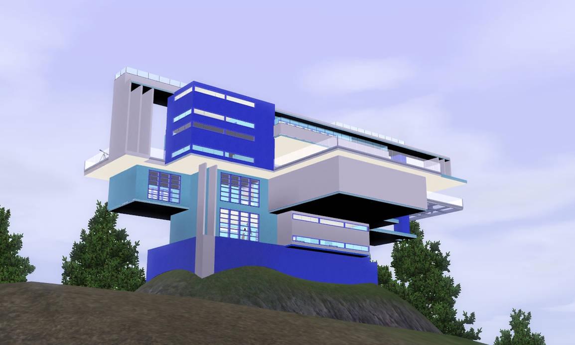 Sims 3 Futuristic tower of Bridgeport by RamboRocky on