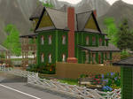 Sims 3 Green victorian house