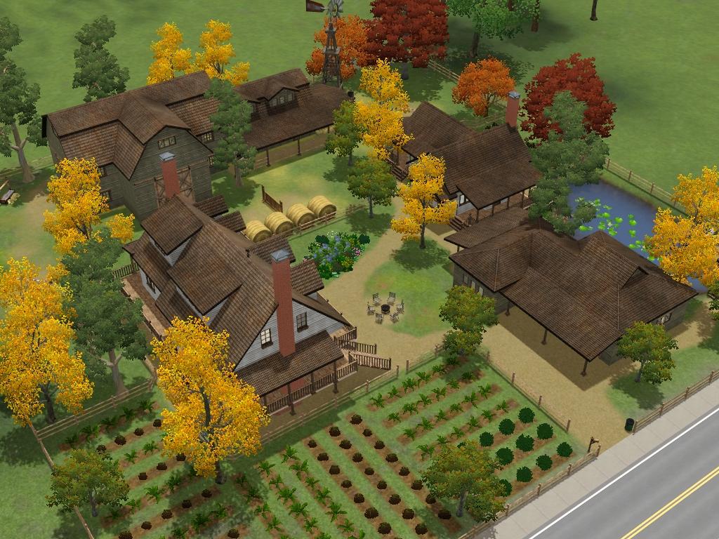 Sims 3 colonial farm house by ramborocky
