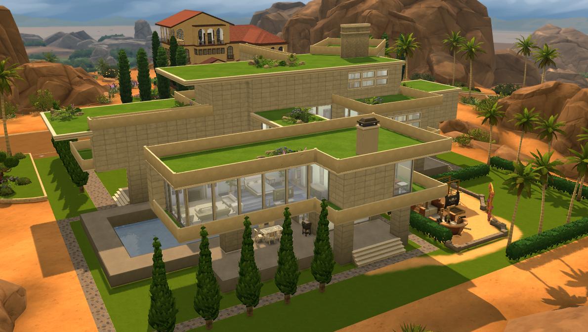Sims 4 Modern Gardens House By RamboRocky On DeviantArt