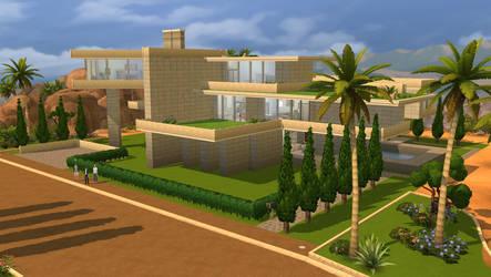 Sims 4 Modern gardens house by RamboRocky