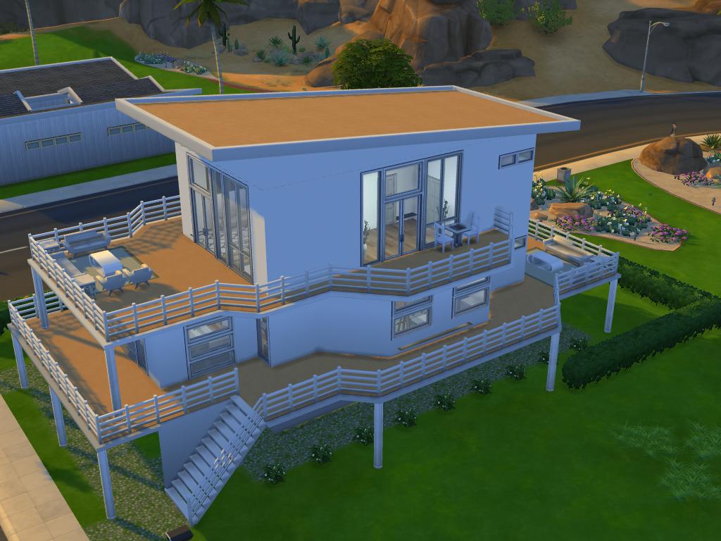 Sims 4 Modern Bachelor House By Ramborocky On Deviantart