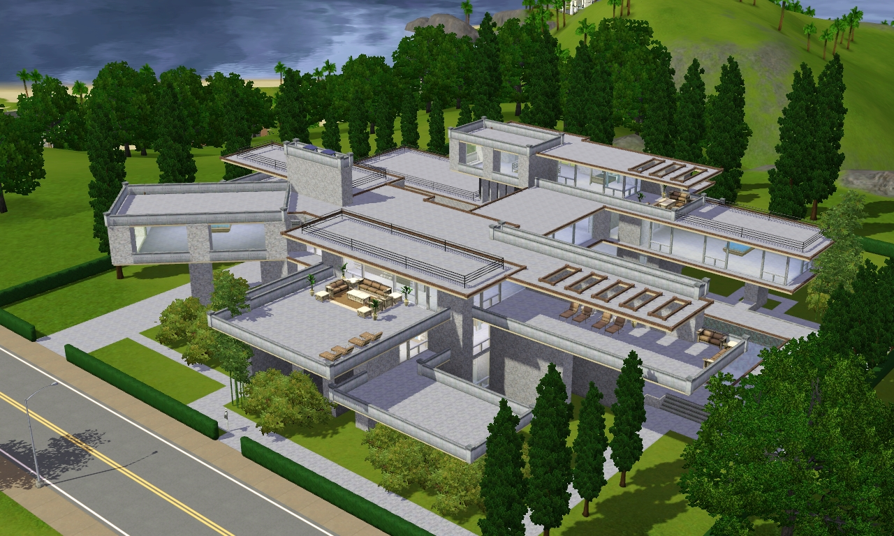 Sims 3 modern luxury mansion by ramborocky on deviantart for Mansion designer