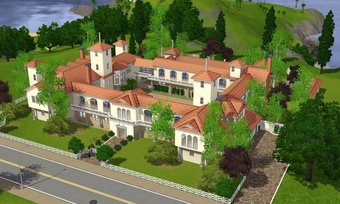 Sims 3 Spanish Villa 561544086 on Spanish Villa Floor Plans