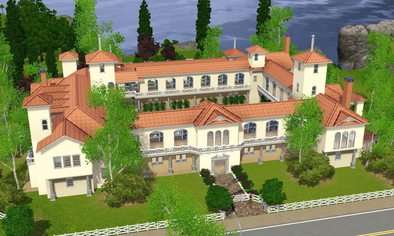 Sims 3 spanish villa by ramborocky on deviantart for Spanish villa house