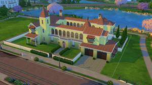 Sims 4 Spanish villa