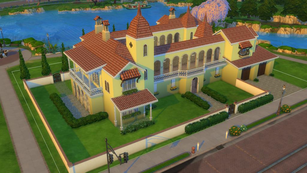 Sims 4 spanish villa by ramborocky on deviantart for Garden design sims 4