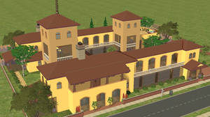 Sims 2 Mediterranean Villa