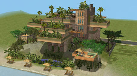 Sims 2 Hanging Gardens by RamboRocky