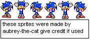 sonic charamelldasin sprites by Aubrey-the-cat