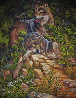 wild and free wolves by Crotchmonsoon