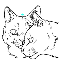 Stormfur and Feathertail - Lineart