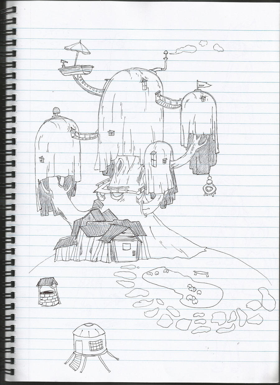 how to draw a treehouse step by step. Modren Draw How To Draw A Treehouse Step By Step Adventure Time Doodle 3 Inside How To Draw A Treehouse Step By