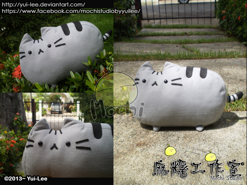 Felt Craft: Pusheen the cat plushie by Yui-Lee