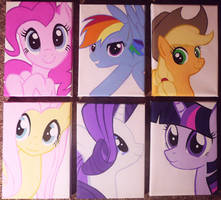 My Little Pony Canvases by SCShima