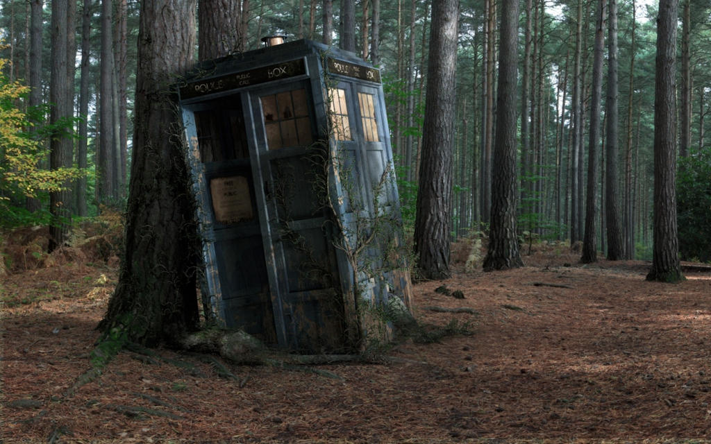 forest tardis doctor who 1920x1080 wallpaper Art H