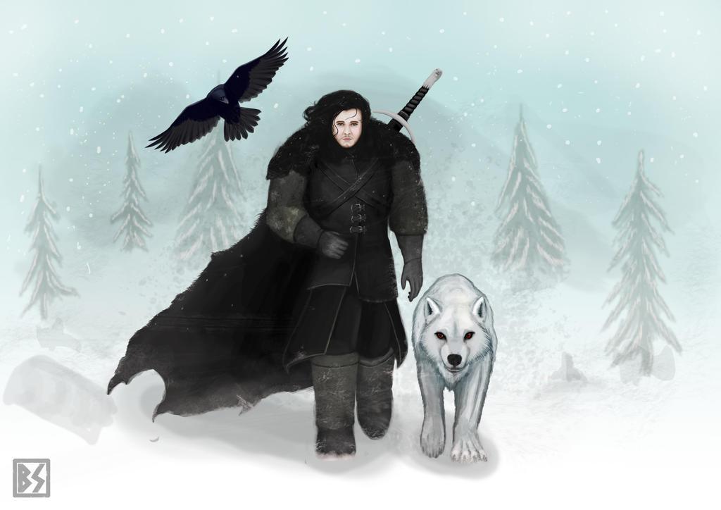 Jon Snow And Ghost By BastianSt On DeviantArt