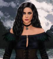 Yennefer of Vengerberg - the witcher by fawwaz1