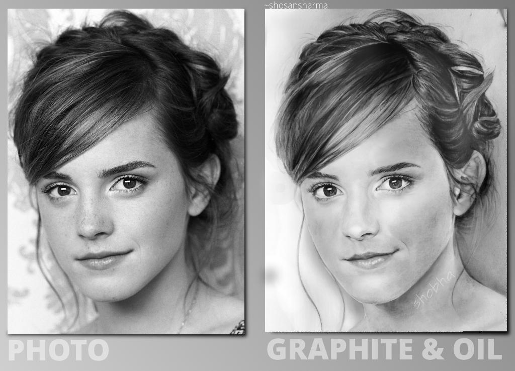 Emma Watson Study - Comparison with Reference by shosansharma