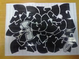 Wu-Tang Logo Drawing by AndyJacko