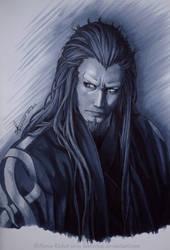 Amagiri Kyuju  -  Hakuouki by Lawrichai