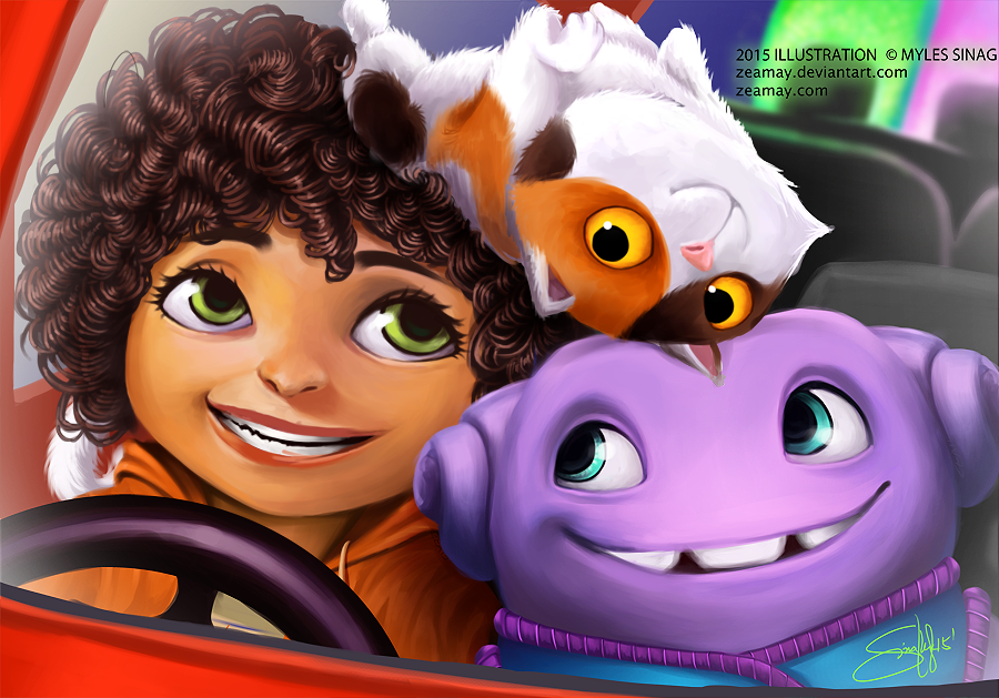 Dreamworks home by zeamay on deviantart for Wallpaper home 2015