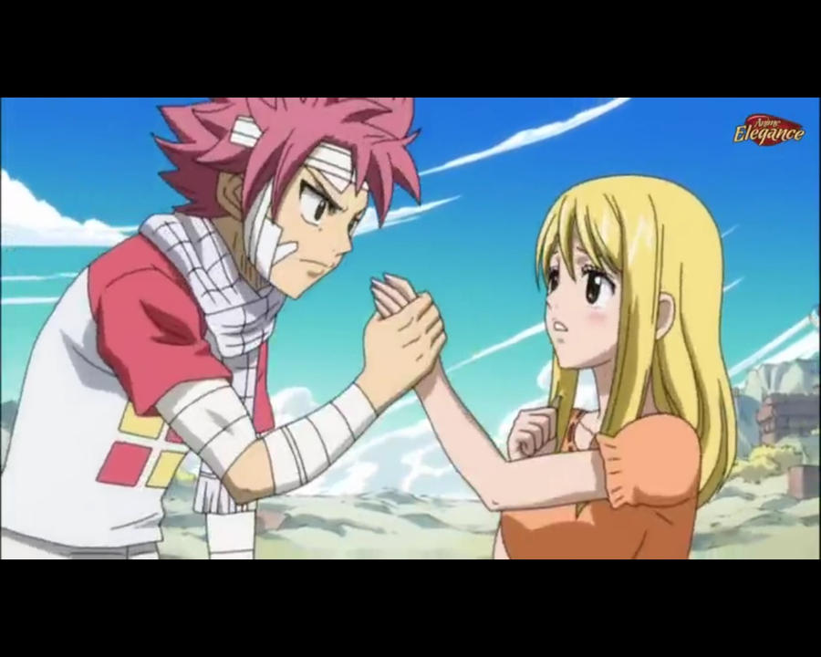 Natsu and Lucy by Meli...