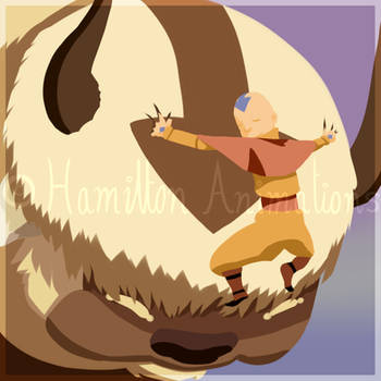 Aang and Appa by Hamilton-Animations