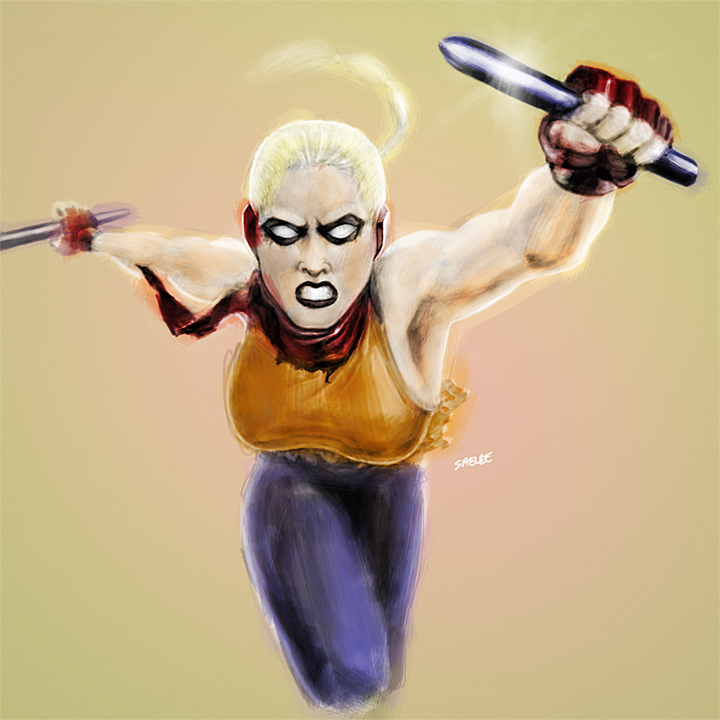 Bad-ass Video Game Heroine concept by Eastfist