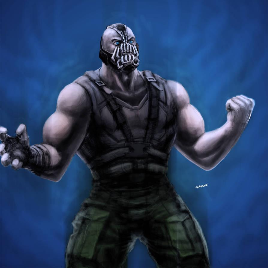 Bane Dark Knight Rises Fan Art by Eastfist