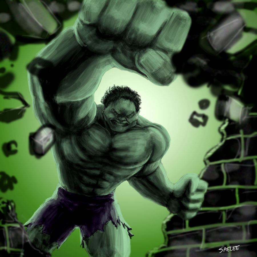Hulk Smash Sketchpaint Style by Eastfist