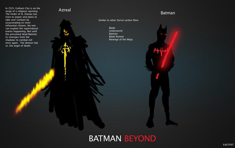 Batman Beyond Concept Azreal Villain Story by Eastfist