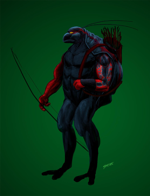 Black Frog Warrior by Eastfist