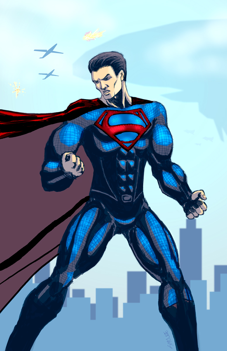 Man of Steel Splash Art for My Website by Eastfist