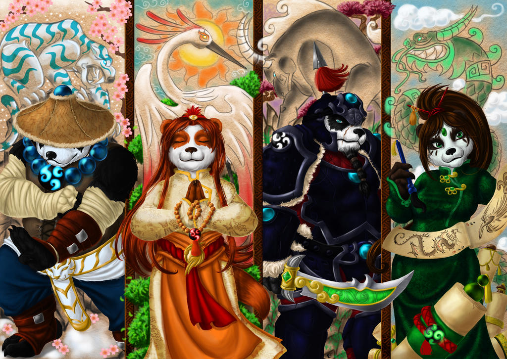 Four Ways of Pandaria by livroeternia