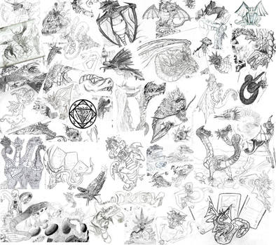A dragon fan from my earliest drawing (30 years)