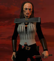 Klingon female by jaguarry3