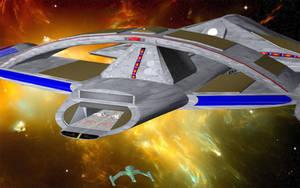 Gorn  Shuttle on Approach by jaguarry3