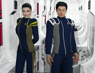 Lt Sutok and Ensign T'Peri by jaguarry3