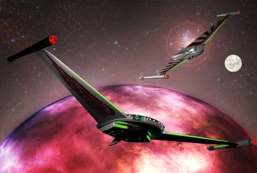 Romulan Star Crusier Original by jaguarry3