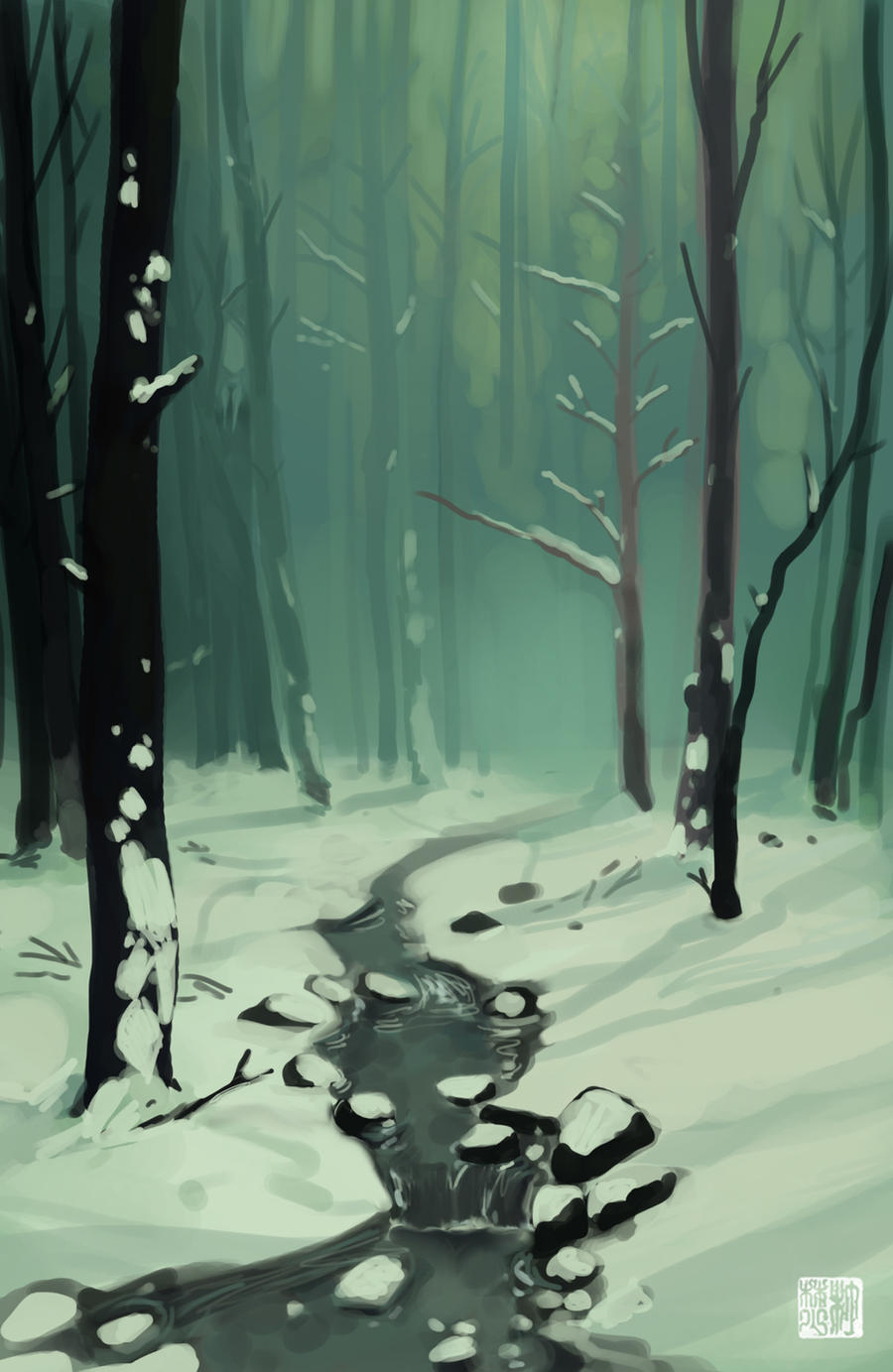 Winter Forest by tohdaryl