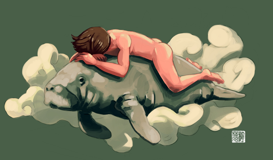 Manatee Dreaming by tohdraws