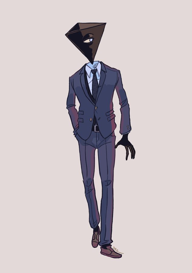 Dapper Triangle Head by tohdaryl
