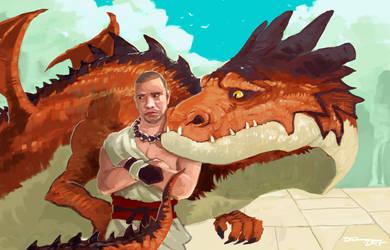 Dragon Monk by tohdraws