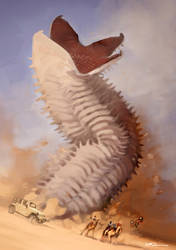 Giant Worm by tohdraws