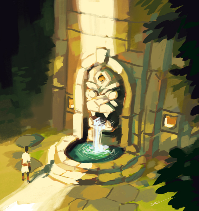 Fountain by tohdraws